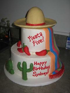 Fiesta Birthday Cake Designs