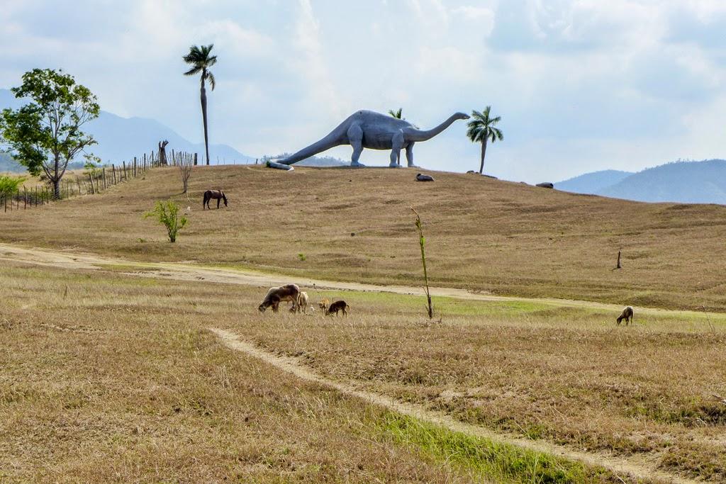 Baracoa Park Prehistoric Park goats horse and dinosaur