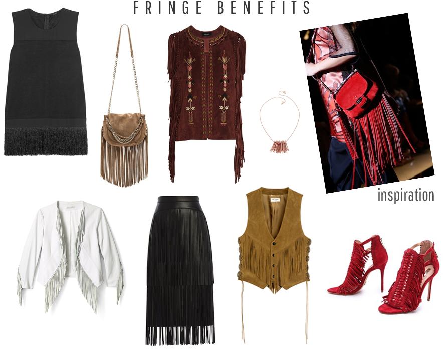 Style Fragment Fringe, BCBG, JCREW, SHOPBOP, EDDIE BORGO, ISABEL MARANT, SCHUTZ, SAINT LAURENT,