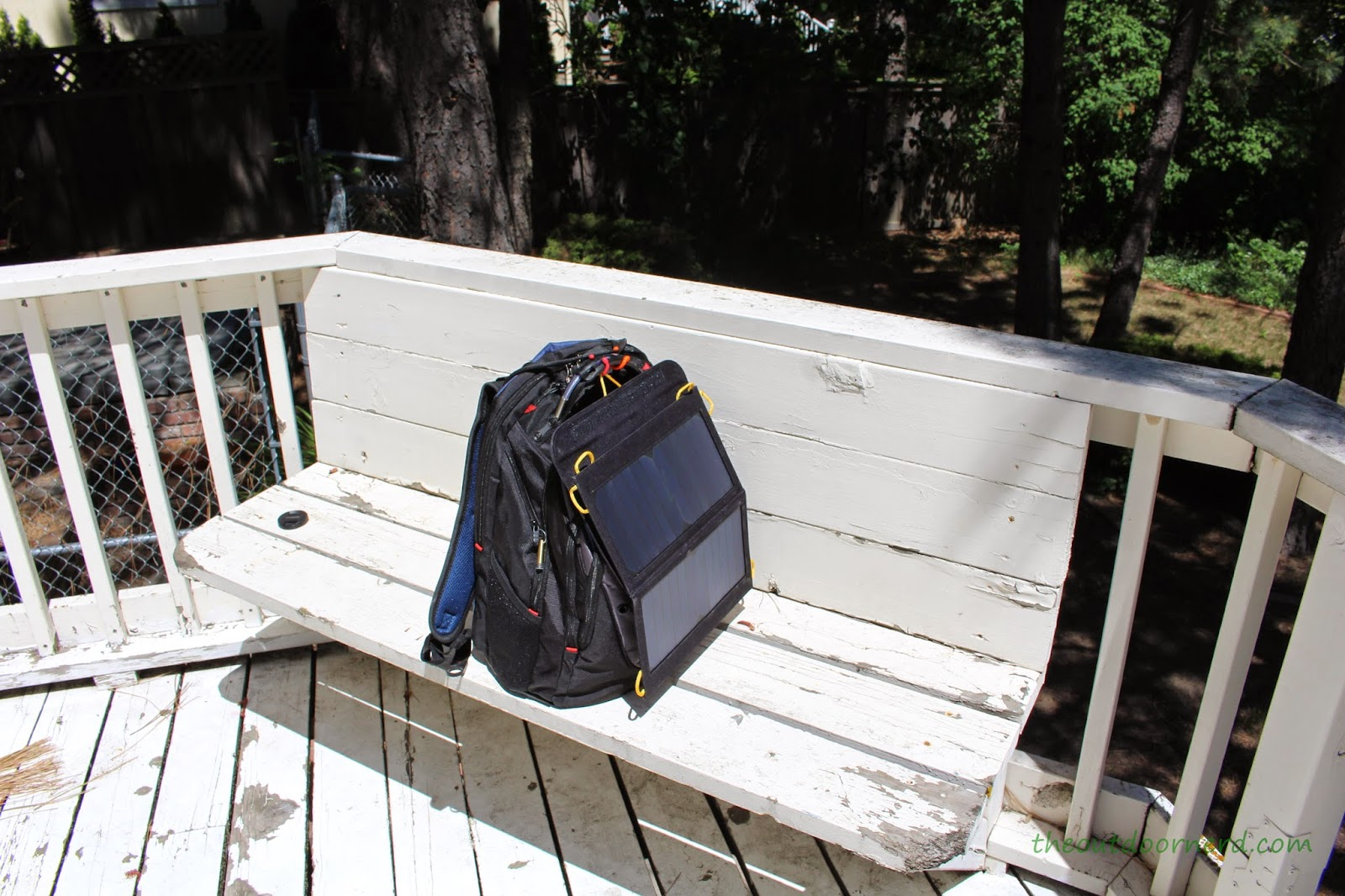 Levin Sol-Wing 13W Solar USB Charger: Another Backpack View