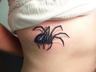 tatuagem aranha em 3D