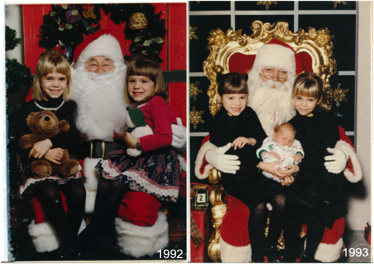 Santa Pictures, 30 Years of Christmas Santa Photos