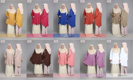 Rekaan Terbaru  blouse Muslimah Labuh dan Longgar Sangat MEnawan Dengan Pelbagai Design