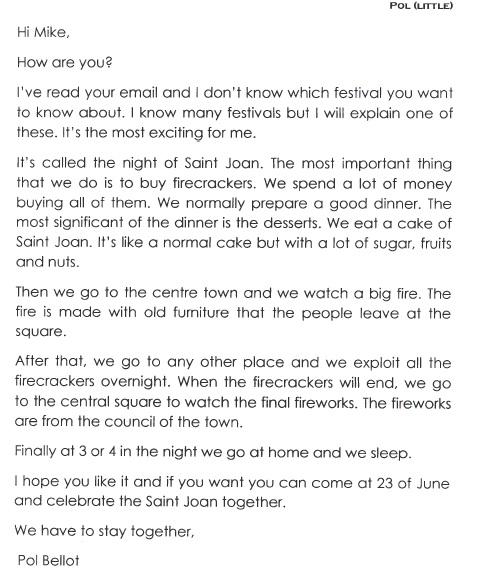 Cambridge school la garriga kfce course informal letter to a informal letter to a friend by little pol altavistaventures Choice Image