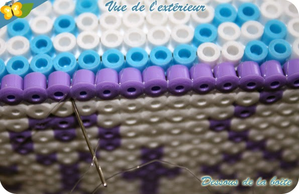 boite en perles Hama pour ranger ses stickers de la Reine des neiges