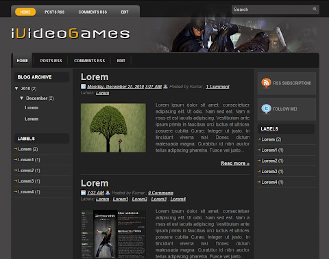 iVideoGames Blogger Theme