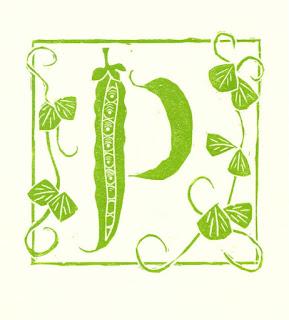 Letter P linocut