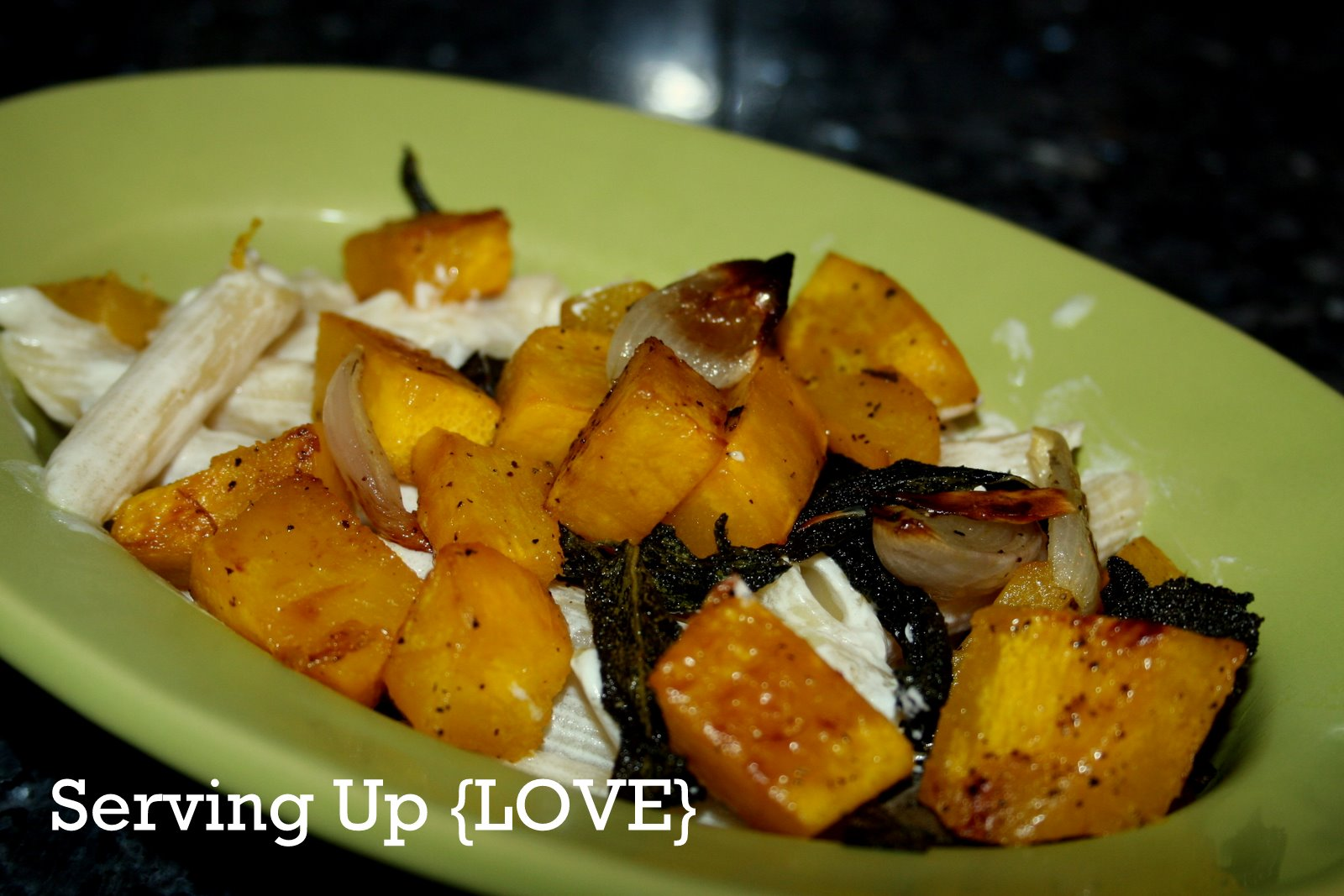 ... : Serving Up {Vegetable}: Roasted Pumpkin with Shallots and Sage