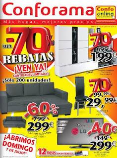 Catalogo conforama rebajas 70 julio 2013 for Zapateros conforama precios