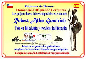 Diploma Antología a Cervantes