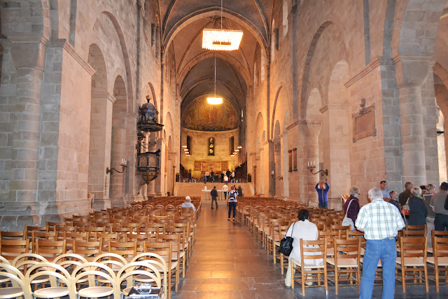 Inside Lund cathedral