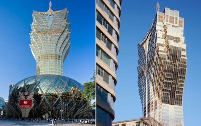 Il Gran Lisboa Hotel a Macao, aperto nel 2007.