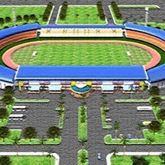 Stadion Kaharuddin Nasution di Kota Pekanbaru yang baru direnovasi