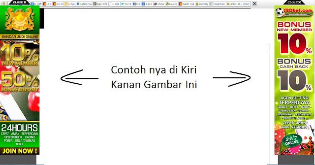 cara memasang iklan di blog, cara pasang iklan melayang di kiri kanan blog