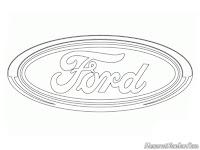 Gambar logo mobil Ford untuk diwarnai