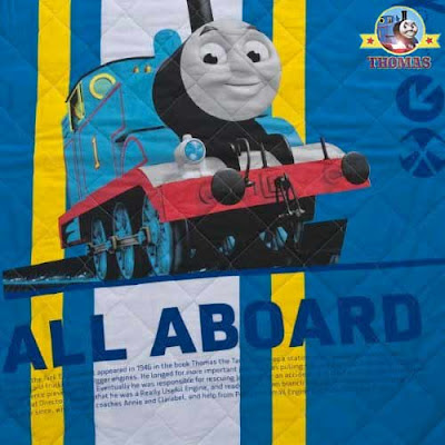 Room decor Thomas and his friends bedspread place available in toddler and childs bedding dimensions