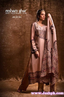 Beautiful Pakistani Eid Wear Dress Collection 2013 By Resham Ghar