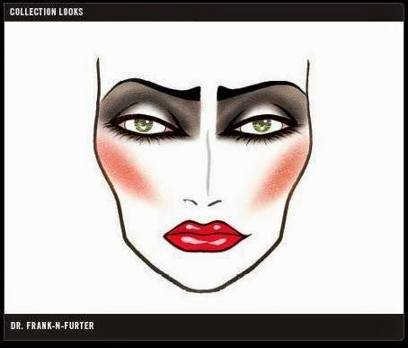 MAC - Rocky Horror Picture Show - face chart - lipstick - rossetto - pigment - pigmento - eyeshadow palette - ombretti - eyeliner