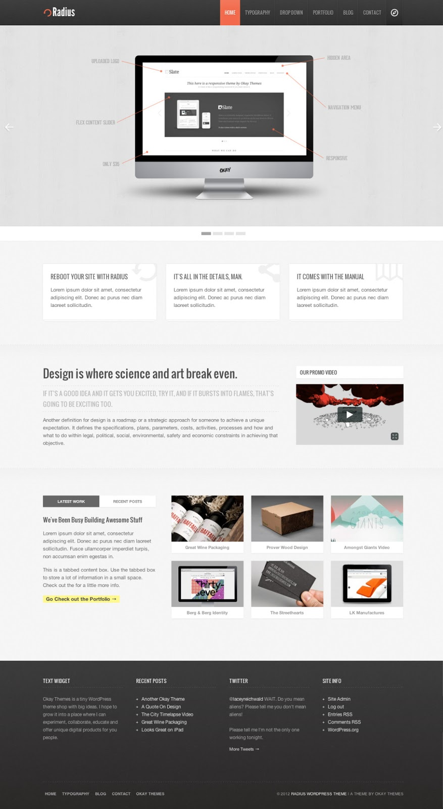 Radius-Responsive-WordPress-Clean-Template