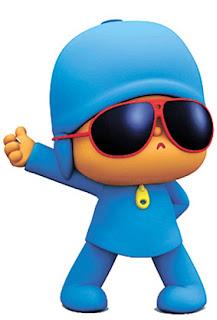 pocoyo con gafas de sol Pocoyo con gafas para imprimir