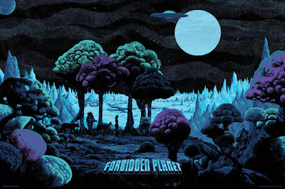 Forbidden Planet Variant Screen Print by Kilian Eng