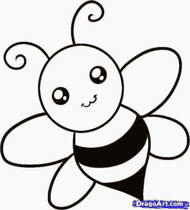 how to draw a bee for kids step by step animals for kids for - Simple Drawing For Children