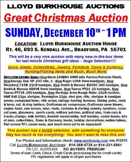 12-10 Christmas Auction, Bradford, PA