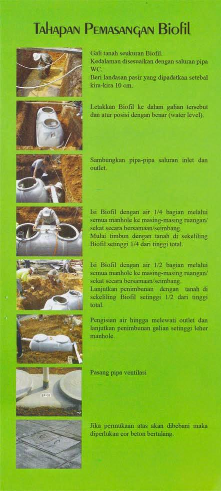 cara pemasangan septic tank biofil