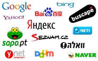 Imagen Buscadores Regionales: Baidu (China), Daum (Corea), Yahoo (Japón), Sezman (R.Checa) y Yandex (Rusia)