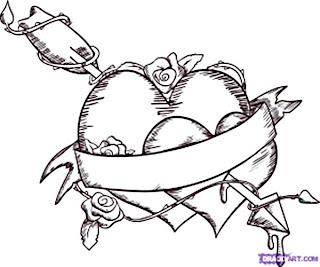 Emo Love Heart Drawings