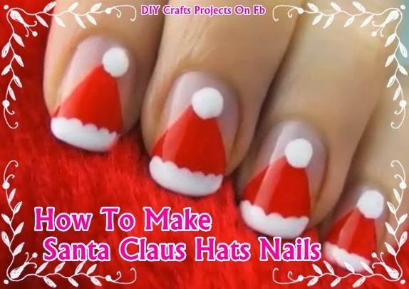 DIY Santa Claus Hats Nails