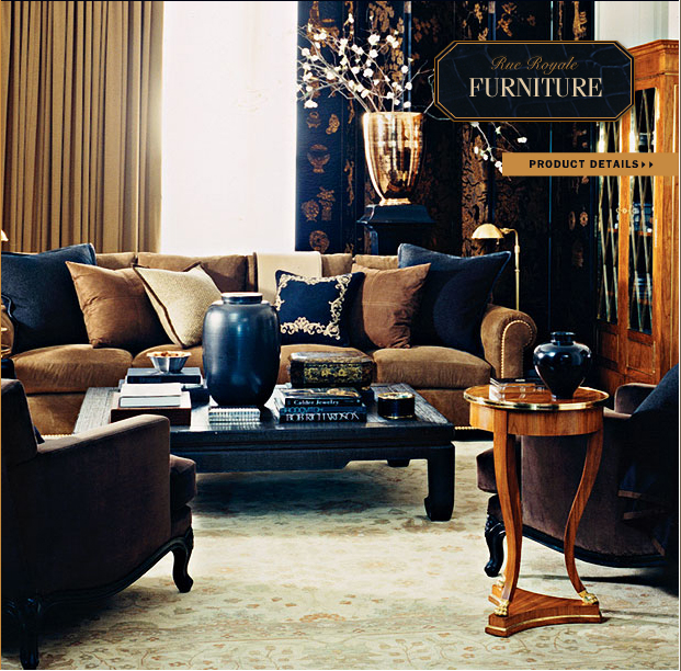 i quite loved the sparse opulence of the rue royale collection its not sparse in the traditional sense but its got that whole biedermeier thing going - Ralph Lauren Living Rooms