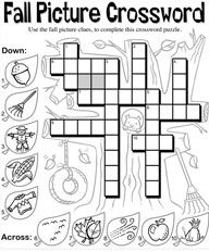 Autumn crossword for adults