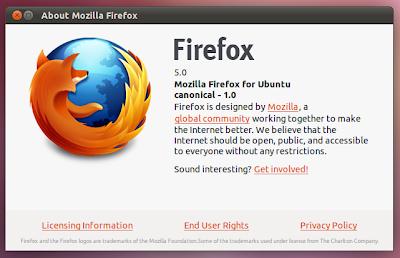 Firefox 5.0 ubuntu 11.04
