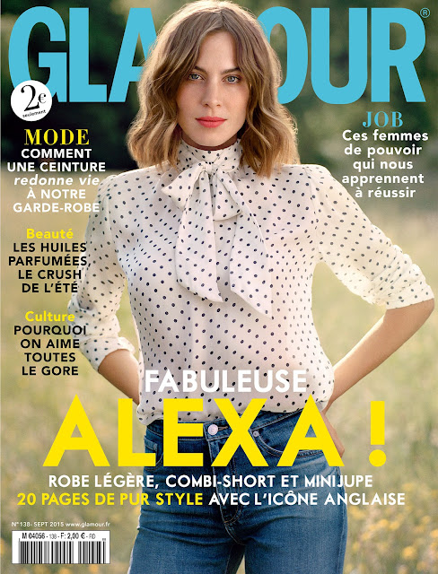 Television Presenter, Model @ Alexa Chung by Tom Craig for Glamour France, September 2015