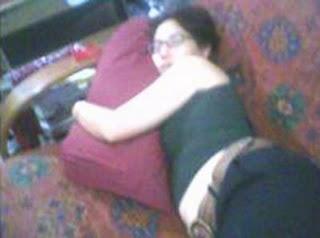 Tante Girang Tidur Anunya Terlihat