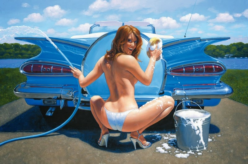 D.W.C. Pin-up and Cars - Painter Greg Hildebrandt