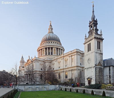 Gereja katedral terkenal di Inggris St Paul's Cathedral