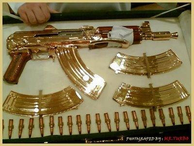 de estas armas ba  241 adas de oro o doradas  Gente famosa como ElvisArmas De Alto Calibre De Oro