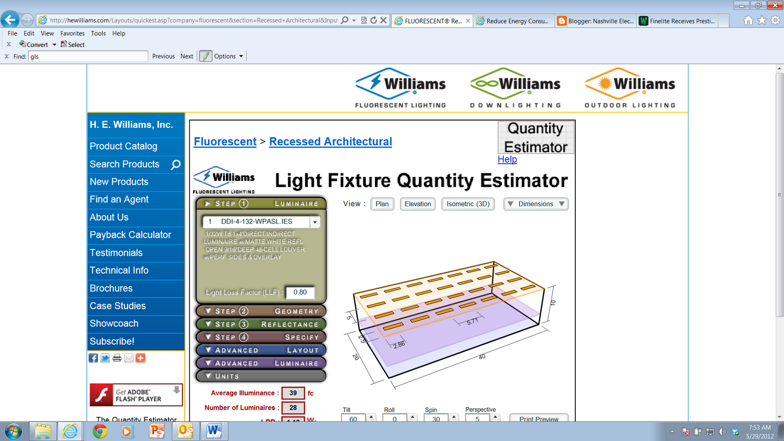 Nashville Electric Lighting and Controls: Lighting Layout Calculator