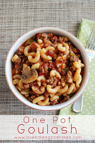 15 Easy Meal Planning Meals :: OrganizingMadeFun.com -- One Pot Goulash