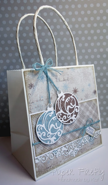 Bauble gift bag using Maja Design papers