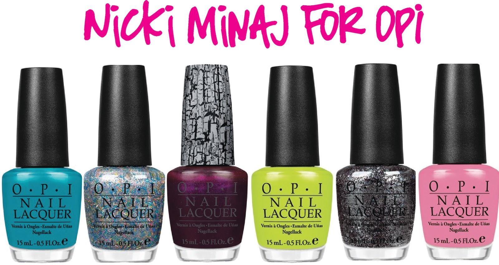 Stylish Nail Polish Collaboration: Nicki Minaj and OPI | Stylelista ...