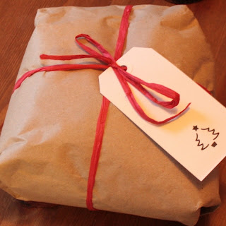 DIY brown paper Christmas gift wrap