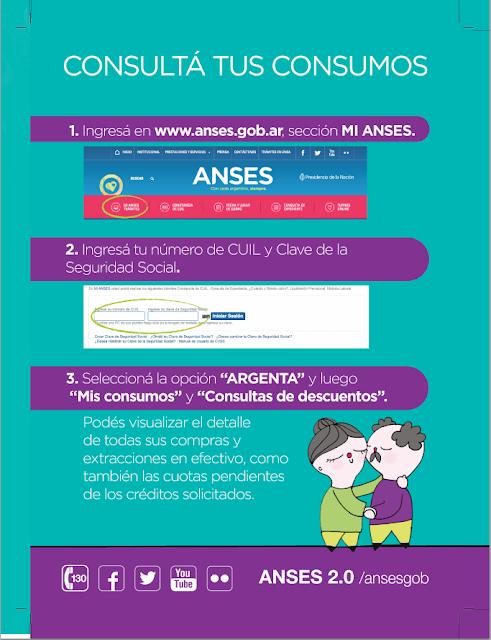 Consulta de consumos de la tarjeta Argenta