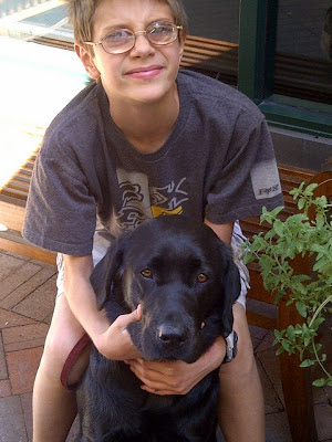 "Matthew Simmons with his K9 Buddy ""Darlo"""