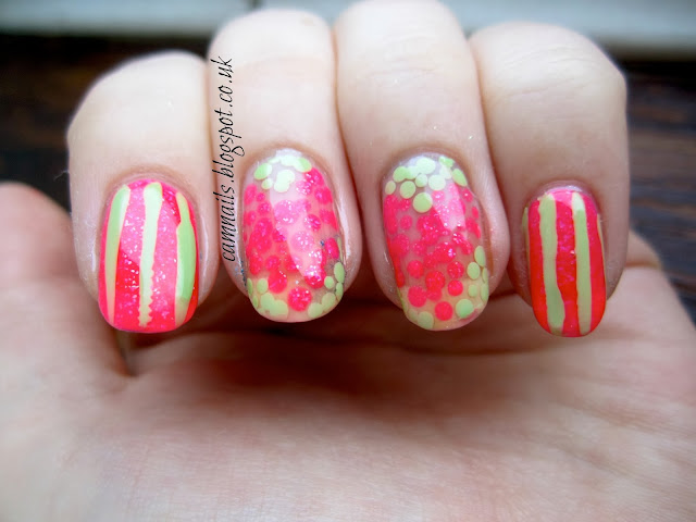 heart-dot-stripe-manicure-nail-art
