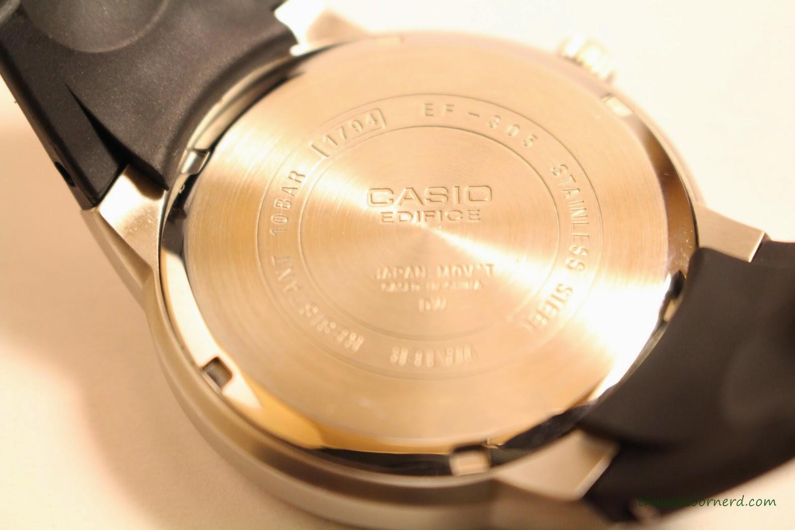 Casio Men's EF305-1AV Edifice Case Back 2