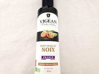L'huile de noix vierge bio Vigean première pression à froid