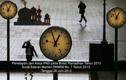 Jam Kerja PNS Selama Bulan Ramadhan 2013